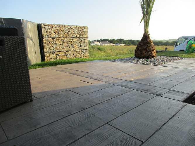 Terrasse en béton imprimé - Saint Alban img2576