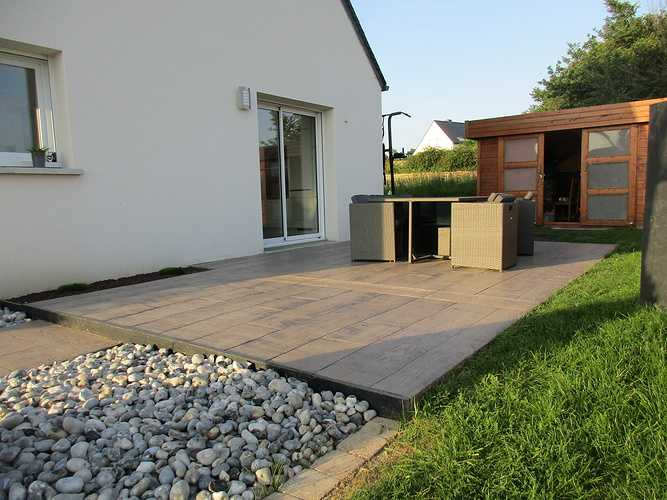 Terrasse en béton imprimé - Saint Alban img2578