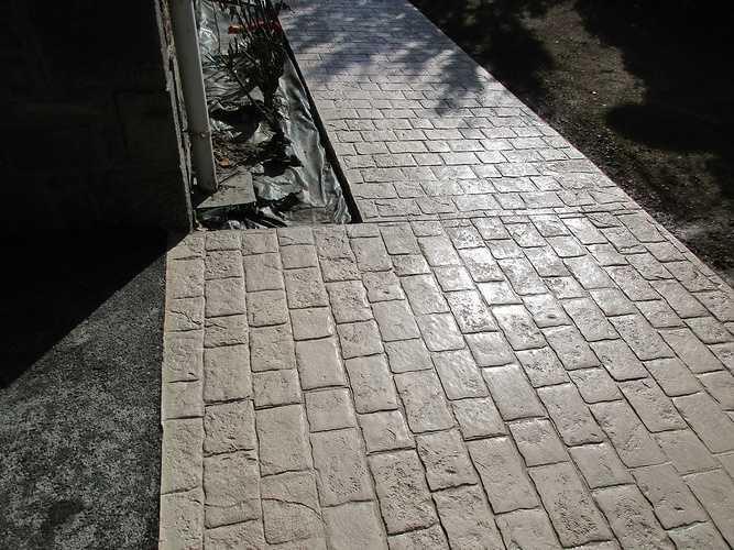 Aménagement extérieur avec béton imprimé / Tony Boisorieux - Saint-Malo (35 400) img3177