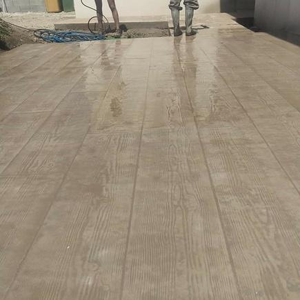 Terrasse 70m2 motif bois